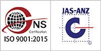 ISO9001品質マネジメントシステム認証ロゴ
