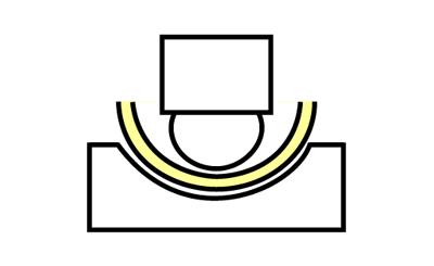 R曲げのイメージ図