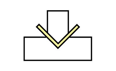 V曲げのイメージ図