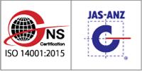 ISO14001:2015環境マネジメントシステム認証ロゴ